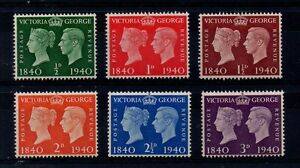 GVI - 1940 Stamp Centenary. Superb unmounted mint set.
