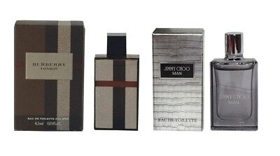 Mini Perfume Burberry London Fabric & Jimmy Choo 4.5ml EDT Men Aftershave Set