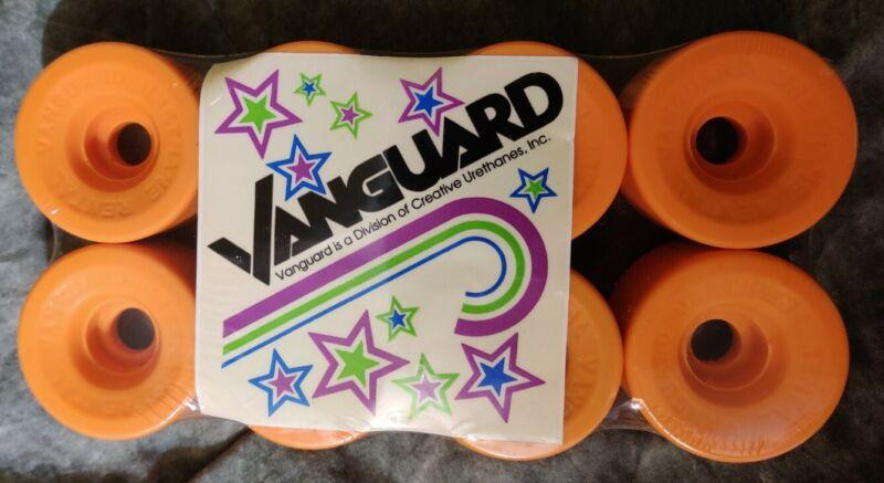 Vanguard Vintage NOS Orange Rental Urethane Quad Roller Skate Wheels New