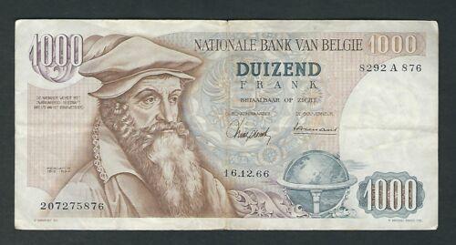 Belgium -  1966, 1000 Francs