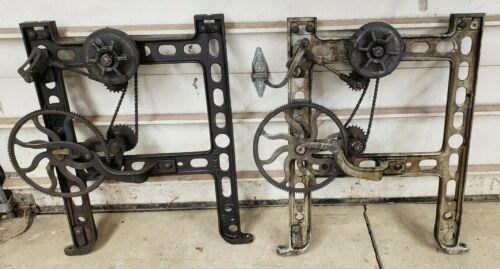 Cast Iron Industrial Steampunk Table Legs Gear Sprocket Chain Lathe Base
