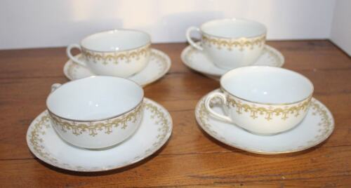 C. Ahrenfeldt Limoges France Porcelain Cups (5) and Saucers (4)