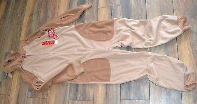Erwachsene Einteiler Pj Fleece Pyjama für Familien Damen Klein Rentier