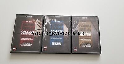 New Sealed College Basketball Honor Roll Volumes 1 2 3 Dvds Espn 3 Dvds