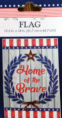 Home of the Brave Red White and Blue Decorative Patriotic Garden Flag](Red White And Blue Flag)