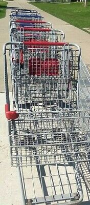 Grocery Store Size Shopping Cart Gray Metal Cart