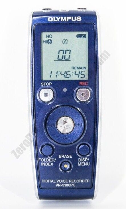 OLYMPUS Digital Voice Recorder VN-3100PC 72 Hour Recording Time [TESTED]
