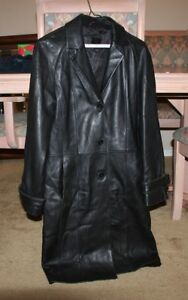 Acton The Olde Hide House Women's Long Leather Jacket - Size 4