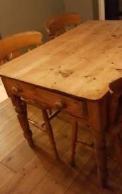 Victorian Pine Scrub Top Table