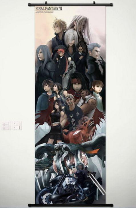 Cloud Strife Sephiroth Final Fantasy VII 7 Home Decor Poster Wall Scroll 45*125