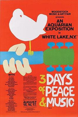 WOODSTOCK CONCERT POSTER *2X3 FRIDGE MAGNET* ROCK N ROLL MUSIC 3 DAYS PEACE