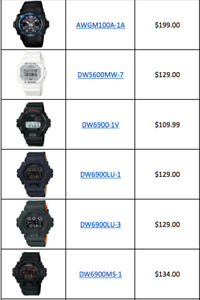 Casio G-Shock's for sale