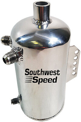 NEW SWS FABRICATED POLISHED RADIATOR EXPANSION WATER TANK,ROUND,4.2 PINTS,(67oz)