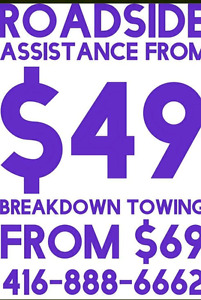 LOCAL LONG DISTANCE TOWING ROADSIDE ASSISTANCE BOOST TIRE GAS