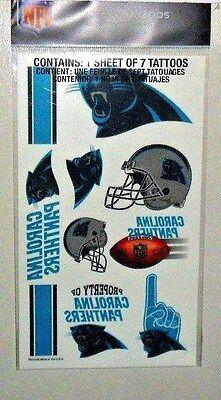 NFL CAROLINA PANTHERS TEMPORARY TATTOOS 1 SHEET 7 TATTOOS FAST FREE SHIPPING](Carolina Panthers Tattoo)
