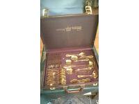 BESTECKE SOLINGEN SBS 75 Piece 24 Carat Gold- Plated Cutlery Set In Case