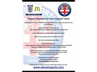 BEGINNER FEMALE FOOTBALLERS WANTED