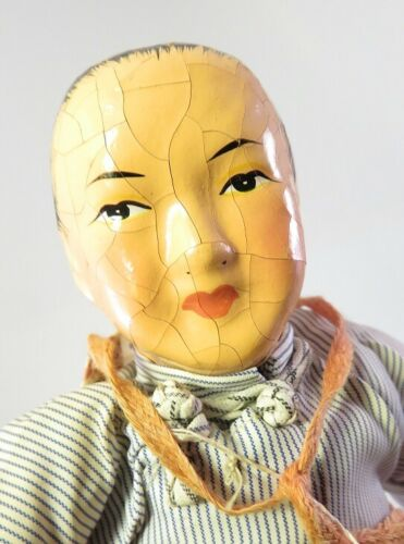 ANTIQUE CHINESE DOLL TRIPOD TRADEMARK TAG