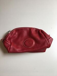 Roots Red Leather Mini Bag/Coin Purse For Sale