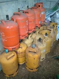 Empty gas drums