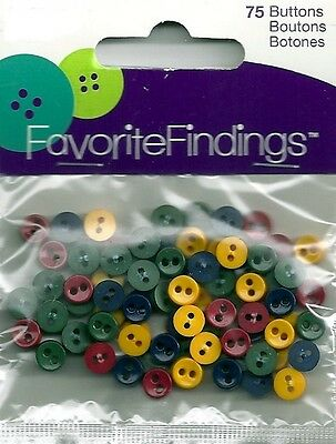 *NEW* FAVORITE FINDINGS MINI COUNTRY DARKS BUTTONS - PKG OF 75