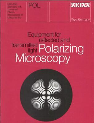 Zeiss Equipment For Polarizing Microscope Reflected Transmitted Light On Cd
