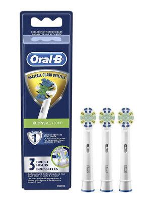 NEU Oral-B Floss Action Elektrische Zahnbürste Ersatzbürstenköpfe - 3ct -