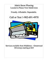 Snow Plow Removal - Snow Plowing