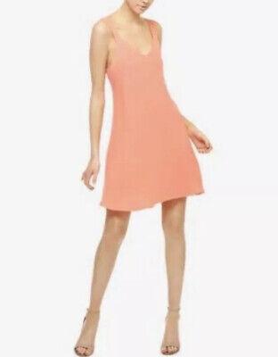Sanctuary Harlow A-line Dress Sundress Midi Coral Orange Size XS NWT