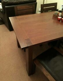 M and S Sonoma solid oak dining table