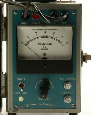 Assocated Research Ac Hypot Portable Model 414 115vac Input 6kv Ac Output