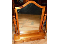 GOOD CONDITION, A NICE PINE DRESSING TABLE MIRROR