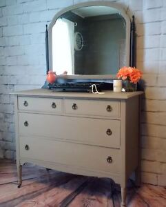 Hand Painted Dresser and Side Tables