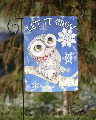 Toland Snowy Owl 12.5 x 18 Cute Let It Snow Winter Bird Snowflake Garden Flag](Cute Snowflakes)