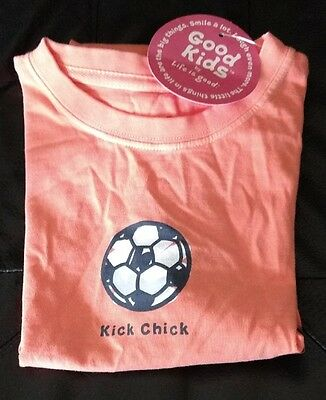 Life is Good girls Crusher Kick Chick Beach Ball tee shirt Small  5-6  NWT - Girls Kick Balls