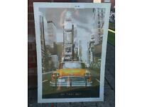 New York Taxi Poster in Frame
