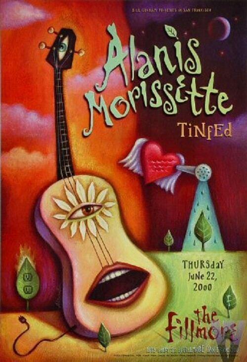 Alanis Morissette Concert Poster 2000 F-408 Fillmore