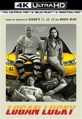 Logan Lucky 4K Uhd 4K  Used  Blu Ray Only Disc Please Read