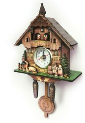 Vintage Antique Swing Pendulum Forest Wood Cuckoo Wall Clock Home Decor Gifts