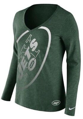 Nike Jersey Wrap (Nike Women's New York Jets Logo Wrap Tri Blend Long Sleeve Jersey Shirt Medium M )