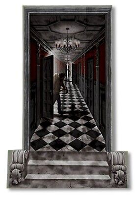 GOTHIC HALLWAY Scene Setter Haunted House Halloween Party Decorations Wall Decor - Haunted Decorations