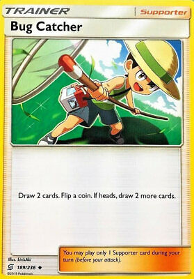 Bug Catcher 189/236 Trainer Card x4 Playset (Unified Minds) Preorder 02/08