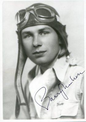 BARRY MAHON: Eagle Squadron Ace: GREAT ESCAPE Tunneler: Photo Autographed for sale  Portland