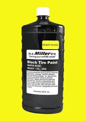 Miller Tire Black Tire Paint For Antique Farm Tractor 1 Qt. E844qr
