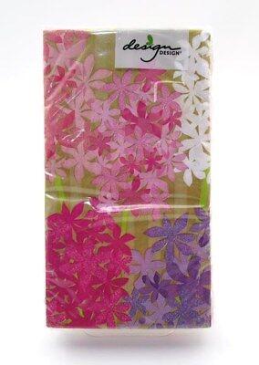 Guest Towel Napkins HYACINTH  15 Napkins - 3-Ply Paper 13 x 15.7 DESIGN DESIGN