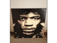 Very Large Jimi Hendrix painting