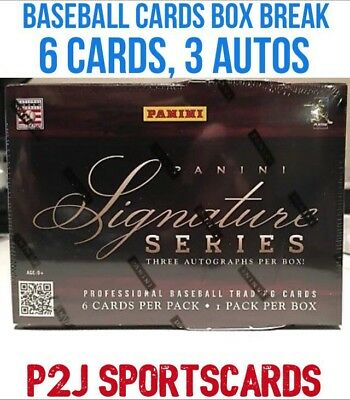 2012 Panini Signature Series Baseball Hobby Box 1 Random Team  Break147   3 Hits