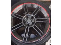 18 inch K1 FR Leon Alloys Genuine BBS Factory £279.99 set of 4 with tyres