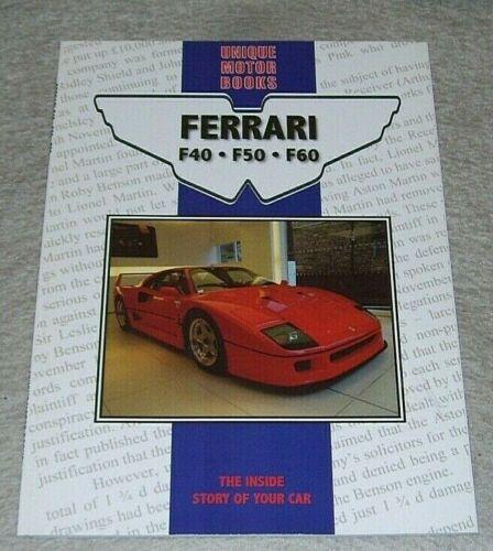 FERRARI+F40+F50+ROAD+TEST+REPRINTS+BOOK+UNIQUE+MOTOR+BOOKS+