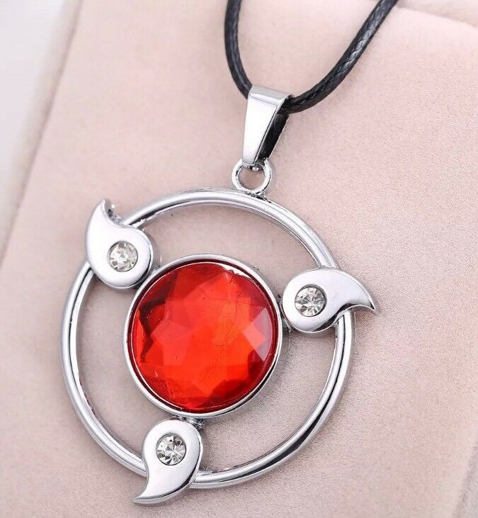 "Naruto Sharingan Itachi Sasuke Uchiha Necklace Anime Cosplay 2"" US Seller"